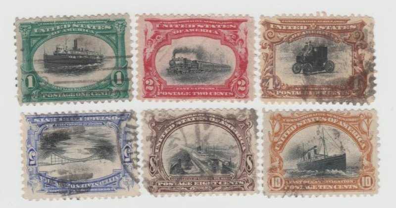1901 Pan American Expo. Complete Series - Used # 294-299 SCV $119