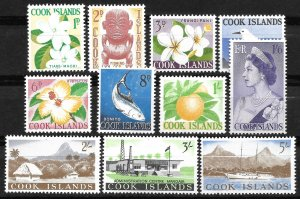 Doyle's_Stamps: MNH Scott #148** to #158** Cook Islands 1963 Postage Stamp Set
