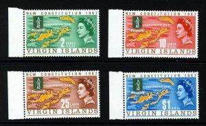 VIRGIN ISLANDS QE II 1967 New Constitution Set SG 213 to SG 216 MNH