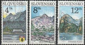 Slovakia, #252-254  Used , From 1996,  CV-$1.15