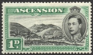 ASCENSION-1938-53 1d Black & Green Sg 39 AVERAGE MOUNTED MINT V38059