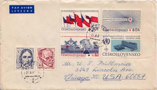 Czechoslovakia, Airmail, United Nations Related, Flags