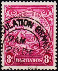 Barbados. 1938 8d  S.G.254a Fine Used
