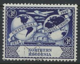Northern Rhodesia  SG 51 SC# 51 Used / FU - UPU 1949 - see details