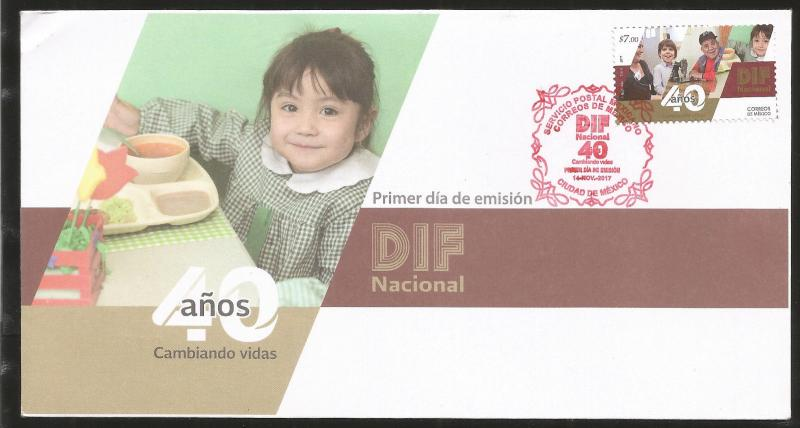 J) 2017 MEXICO, 40 YEARS FROM DIF SOCIAL ASSISTANCE, FDC