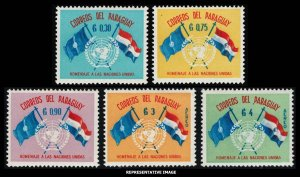 Paraguay Scott 569-571, C272-C273 Mint never hinged.