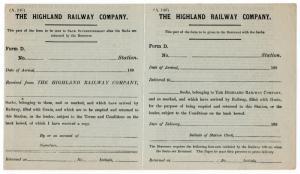 (I.B) The Highland Railway : Sack Loan Form (1890)