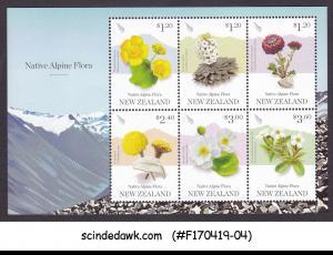 NEW ZEALAND - 2019 NATIVE ALPINE FLORA / FLOWERS - MIN/SHT MNH