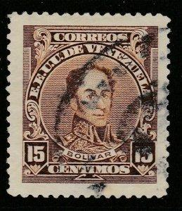 Venezuela 1924-39 15c Perf 12 1/2 fine used South America A4P52F4