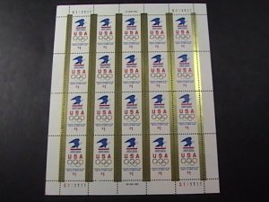 U.S.# 2539-MINT NEVER/HINGED--PANE OF 20---$1.00---OLYMPICS---1991