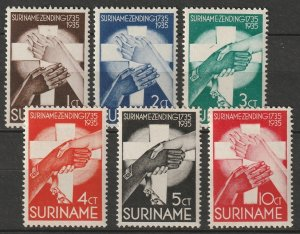 Suriname 1935 Sc B16-21 set MLH
