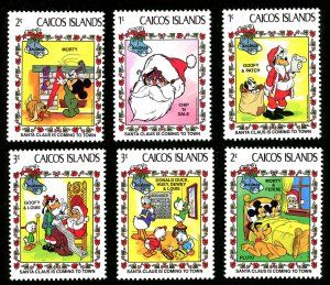 CAICOS ISLANDS Scott 22-27 MLH 1983 Christmas (Disney Characters)