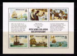 PITCAIRN ISLAND Sc# 320-322 MNH FVF Set 3 x SS Bicentennial