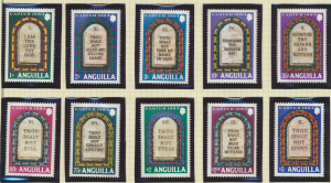 Anguilla Stamps Scott #526 To 535, Mint Never Hinged - Free U.S. Shipping, Fr...