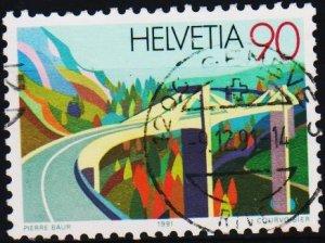 Switzerland. 1991 90c S.G.1234 Fine Used