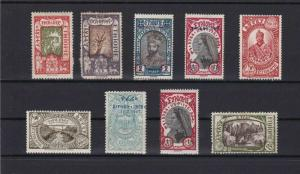 ETHIOPIA MOUNTED MINT STAMPS , SOME OVERPRINTS  REF 6844