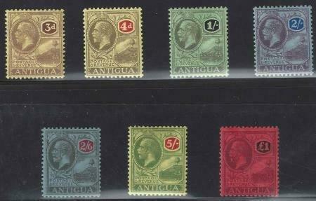 Antigua 1921-1929 SC 58-64 Mint SCV$ 355.00 Set