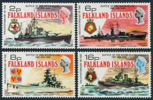 Falkland 237-240,MNH.Michel 232-235. Naval Battleships,1974.
