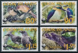 Cook Islands MNH 1270-3 Suwarrow Kingfisher Birds WWF 2005