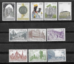 Luxembourg # 389-99  City Millennium  (11)  Mint NH