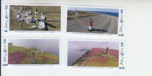 2018  Isle of Man Lighthouses (4) (Scott 1982-85) MNH