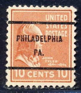 Philadelphia PA, 815-61 Bureau Precancel, 10¢ Tyler