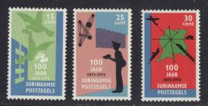 Surinam 1973  MNH centenary of stamps complete