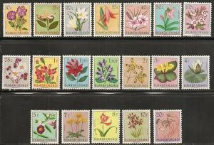 Ruanda-Urundi 114-32 1953 Flowers set NH