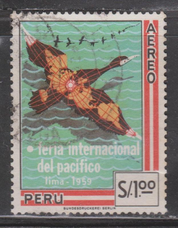 PERU - Scott # C165 Used Airmail Issue - Nice Stamp