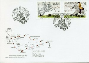 Luxembourg Europa Stamps 2020 FDC Old Postal Routes Services Horses 2v Set
