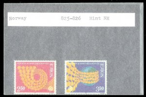 NORWAY Sc#825-826 MINT NEVER HINGED Complete Set
