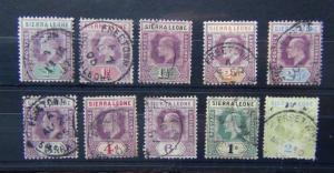 Sierra Leone 1904 -05 values to 2s Used