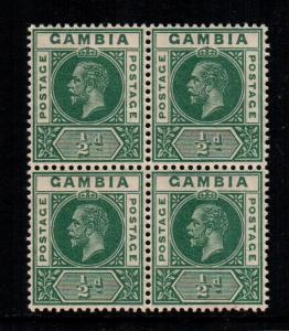 Gambia 70   MNH  cat $ 25.00 block of 4