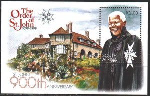South Africa. 1999. bl 77. Mandela, South African politician. MNH.