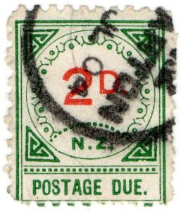 (I.B) New Zealand Postal : Postage Due 2d (large D)