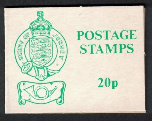 Jersey Stamp Sachet 20p Green Cover SG#SACH76