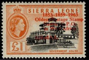 SIERRA LEONE QEII SG284, £1 black & orange, NH MINT. Cat £38.
