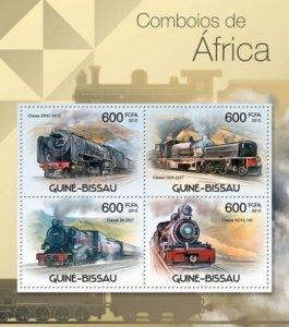 GUINE BISSAU 2012 SHEET AFRICAN TRAINS TRENES LOCOMOTIVES LOCOMOTORAS gb12310a