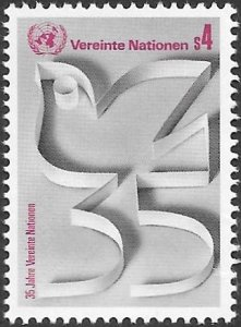 United Nations UN Austria Vienna 1980 Sc # 12 Mint NH. Ships Free With Another