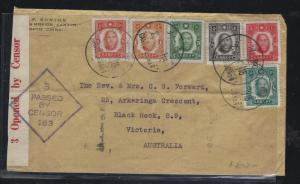 CHINA (P2303BB)  6 COLOR A/M FRANK PASSED BY CENSOR CANTON TO AUSTRALIA