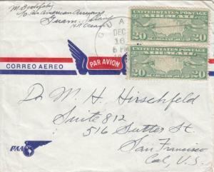 1940, Guam to San Francisco, CA via Pacific Clipper (23259)