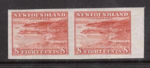 Newfoundland #209a XF/NH Imperf Pair