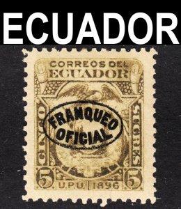 Ecuador Scott O49 unwtmk F to VF mint OG HHR reprint.