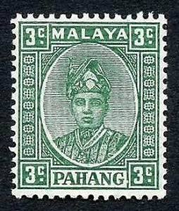 Pahang SG31a 3c Green Thin Striated paper M/M Cat 38 pounds