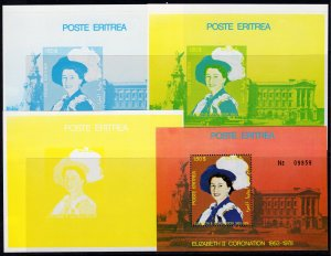 Eritrea 1978 Coronation of Queen Elizabeth II 25th.Anniversary S/S Color Proofs
