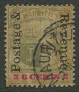 STAMP STATION PERTH Mauritius #119 Coat of Arms Used Wmk 2 -1902