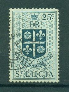 St. Lucia sc# 166 (3) used cat value $.25