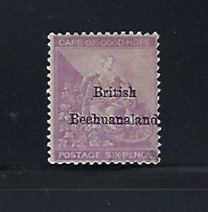 BRITISH BECHUANALAND SCOTT #8  1885-87 6D (VIOLET) MINT NO GUM