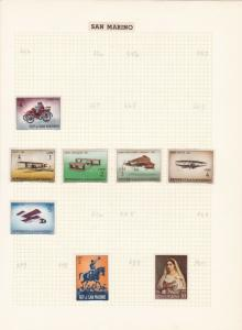 san marino stamps page ref 17048
