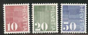 Switzerland Scott 521-523 MNH** 1970 Coil stamp set
